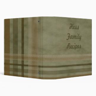 Carpeta del libro de cocina de las recetas de la f