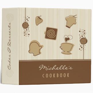 Carpeta del libro de cocina de las tortas y de los