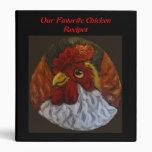 Carpeta del libro de cocina del pollo