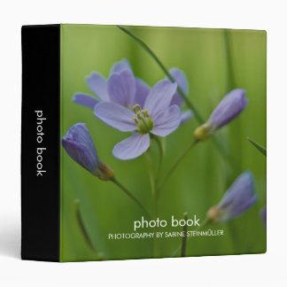Carpeta del libro de la foto de la flor de cuco
