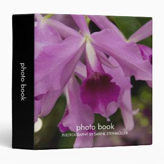 Carpeta del libro de la foto de la orquídea de Cat