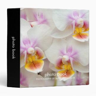 Carpeta del libro de la foto de la orquídea del Ph