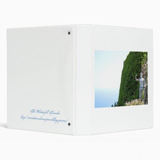 Carpeta del libro de la fotografía del viaje de It