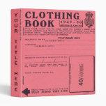 carpeta del libro de ración de la ropa