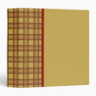 Carpeta del libro de recuerdos de la tela escocesa