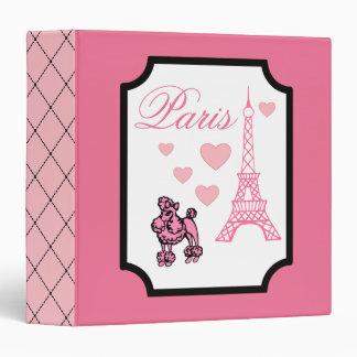 Carpeta del libro de recuerdos de París de la torr