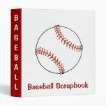 Carpeta del libro de recuerdos del béisbol