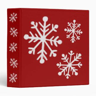 Carpeta del libro de recuerdos del copo de nieve