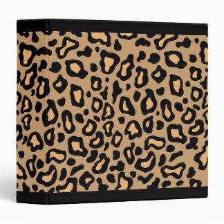 Carpeta del libro de recuerdos del estampado leopa