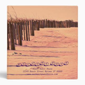 Carpeta del libro de visitas de las dunas de la pl