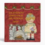 Carpeta del libro del Brag del navidad de la abuel