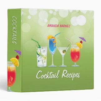 Carpeta del Mixology de las recetas del cóctel