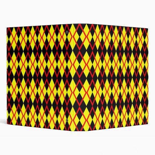 Carpeta del modelo de Argyle--Negro, amarillo,