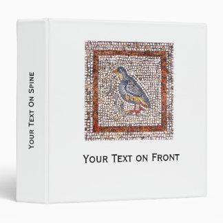 Carpeta del mosaico del pájaro de Kos 1,5 pulgadas
