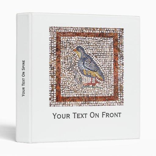 Carpeta del mosaico del pájaro de Kos 1 pulgada