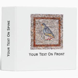 Carpeta del mosaico del pájaro de Kos 2 pulgadas
