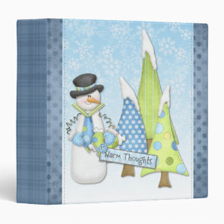 Carpeta del muñeco de nieve del país de las maravi