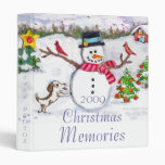 Carpeta del navidad del invierno del muñeco de