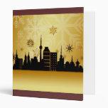 Carpeta del navidad del oro