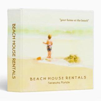 Carpeta del negocio de la playa de los alquileres