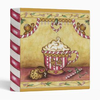 Carpeta del pan de jengibre del navidad