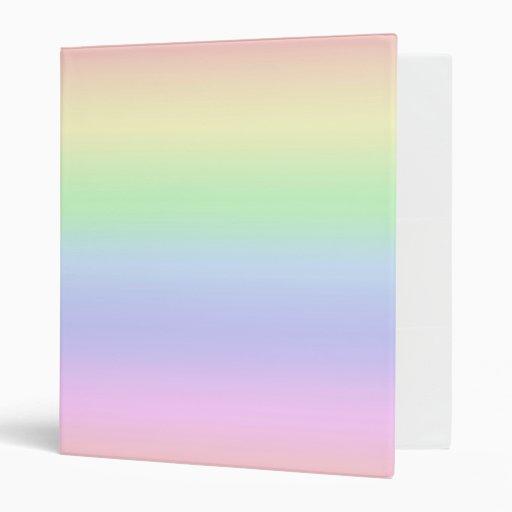 Carpeta del pastel del arco iris