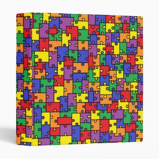 Carpeta del pedazo del rompecabezas - colores del