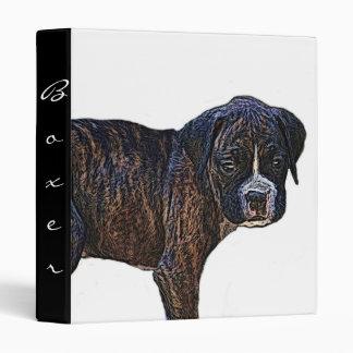 Carpeta del perrito del boxeador