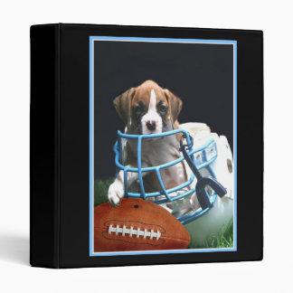 Carpeta del perrito del boxeador del fútbol