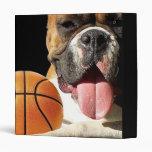 Carpeta del perro del baloncesto del boxeador