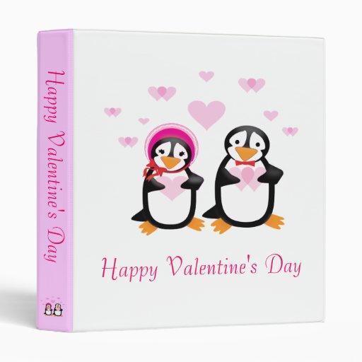 Carpeta del personalizable de los pingüinos de la