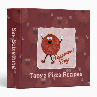 Carpeta del personalizado de Tony de los