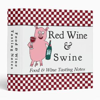 Carpeta del personalizado del vino rojo y de los c