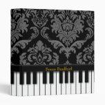 Carpeta del piano (impresión del damasco)