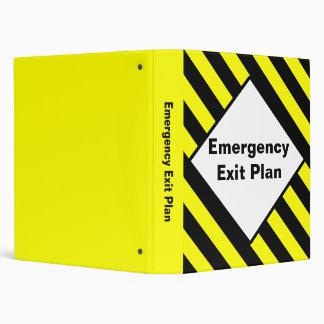 Carpeta del plan de la salida de emergencia