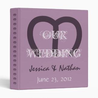 Carpeta del planificador de la foto del boda de la
