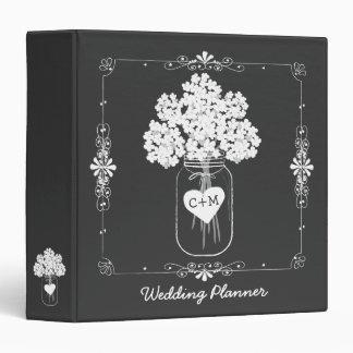 Carpeta del planificador del boda de la novia del