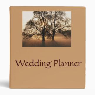 Carpeta del planificador del boda del otoño