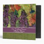 Carpeta del planificador del boda, uvas del otoño