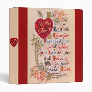 Carpeta del poema de la tarjeta del día de San Val