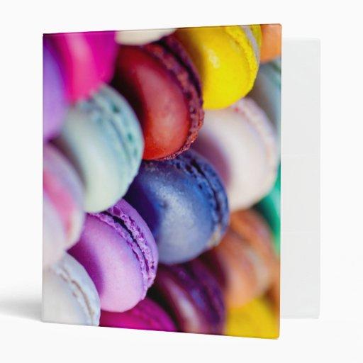 Carpeta del postre de los dulces del arco iris de