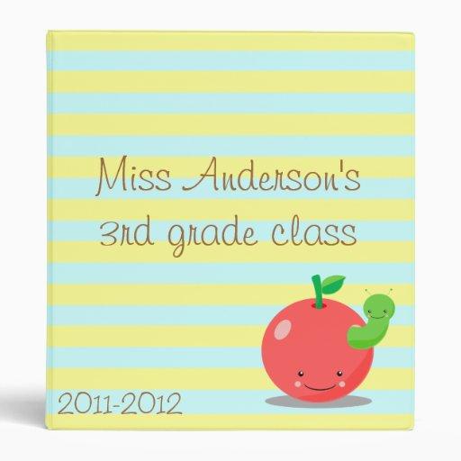 carpeta del profesor de la manzana