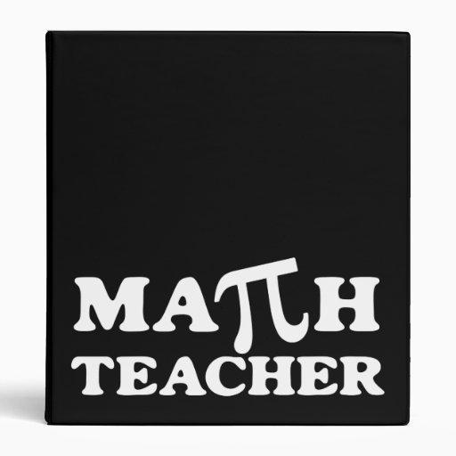 Carpeta del profesor de matemáticas pi