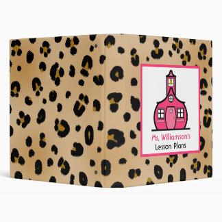 Carpeta del profesor - estampado leopardo y rosa