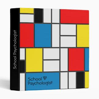 Carpeta del psicólogo de la escuela con diseño