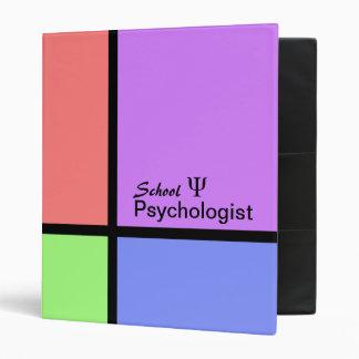 Carpeta del psicólogo de la escuela en bloques en