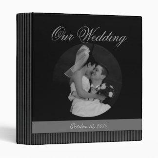 Carpeta del recuerdo del boda álbum de foto o pla