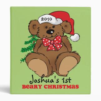 Carpeta del recuerdo del navidad de Beary