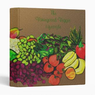Carpeta del relevo de la fruta y del Veggie