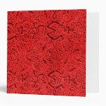 Carpeta del rojo anaranjado de Triskle del vintage